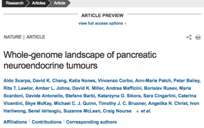 Leap forward for Understanding Pancreatic Neuroendocrine Tumours